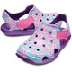 Crocs Swiftwater Wave Graphic Lapset sandaalit , vaaleanpunainen/violetti